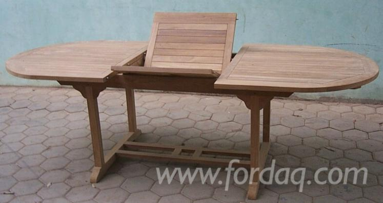 vend tables de jardin rustique campagne bois massif tropicaux asie teak central java. Black Bedroom Furniture Sets. Home Design Ideas