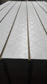 Star design melamine MDF grooved board