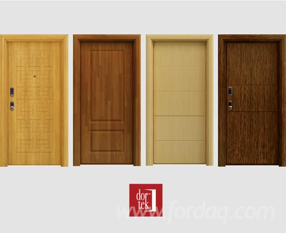 Steel Leaf With Wood Panels On It Interior Or Exterior Doors