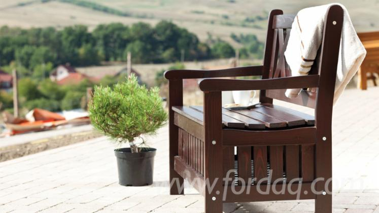 Contemporary Fir (Abies Alba) Garden Benches Romania