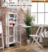 Living Room Furniture - Flat Small Wall Table Set- Perfect Space Saving Living Room Set