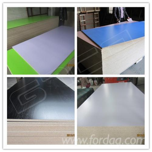Melamine laminated particle board for Particle board laminate finish