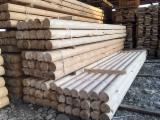 Softwood Logs - Wooden poles Spruce 160-300 mm