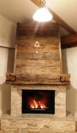 Mobila sufragerie - semineu in structura lemn rustic