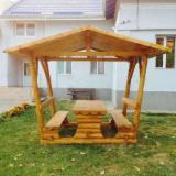 Pergolă - Foisor/filigorie din lemn rotund de brad