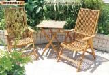 Négoce International De Meubles De Jardin - Vend Chaises De Jardin Design Bois Massif - Feuillus Tempérés Acacia