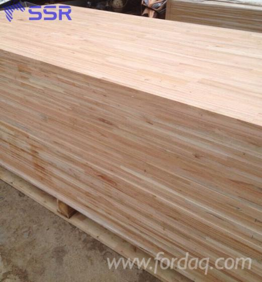 Joined Hardwood Laminated Board ~ Sapelli sapele finger joined laminated board from vietnam