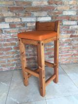 null - Contemporary Pine Bar Chairs
