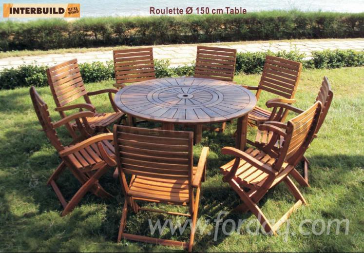 Vend ensemble de jardin design bois massif feuillus for Ensemble jardin bois