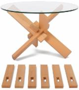Beech  Living Room Furniture - Flat pack mechanical puzzle coffee table