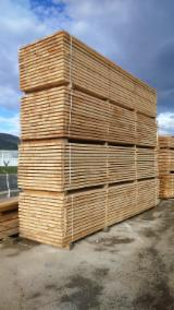 Softwood Timber - Sawn Timber - PEFC 38,50 mm Air Dry (AD) Fir  Planks (boards)  from Spain, NAVARRA