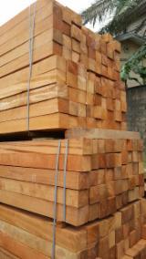Doussie or Pachyloba sawn wood