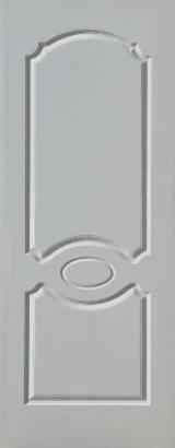 Mouldings - Profiled Timber For Sale - 6 Panels/4 Panels White Premier HDF Door Skin, 915 X 2135 X 2.7 mm
