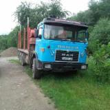 Camion Transport Busteni - Camion graifer lemn MAN, MAN 7.5 tone, vagon dormitor, ifron
