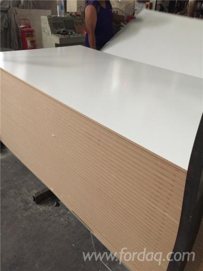 White or wood grain laminated mdf plywood particle board for Particle board laminate finish