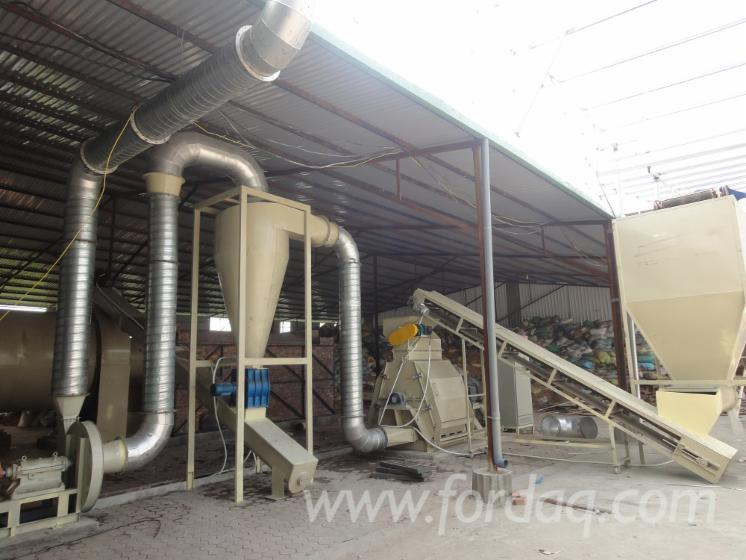 Ton hour biomass pellet production plant
