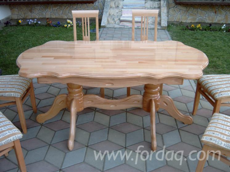 Vend table de salle manger contemporain bois massif for Table salle a manger chene massif contemporain