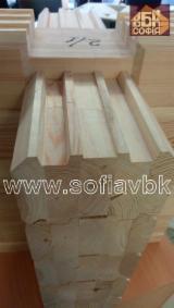 Rășinoase  Cherestea Tivită, Lemn Pentru Construcții Semifabricate, Frize - Vand Semifabricate, Frize Pin Rosu, Molid Tratat Termic 80-200 mm