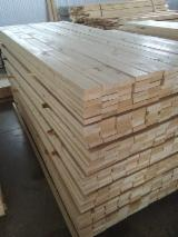 Sawn And Structural Timber Spruce Picea Abies - S4S KD 16% WHITEWOOD (spruce) • Grade AB • Mini-bundled. Packages wrapped with plastic