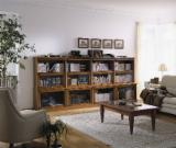Bookcase Living Room Furniture - Radiata Pine Storage and Shelving for Offices