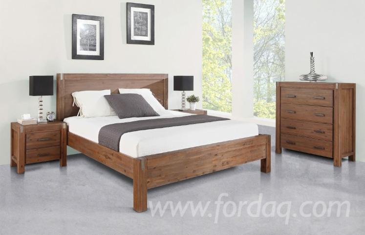 acacia wood wood bedroom set