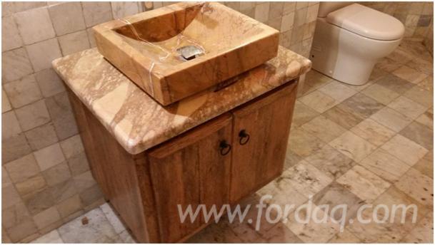 meuble lave mains en bois de palmier. Black Bedroom Furniture Sets. Home Design Ideas