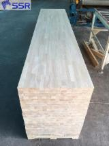 Rubber wood finger jointed boards for staircase