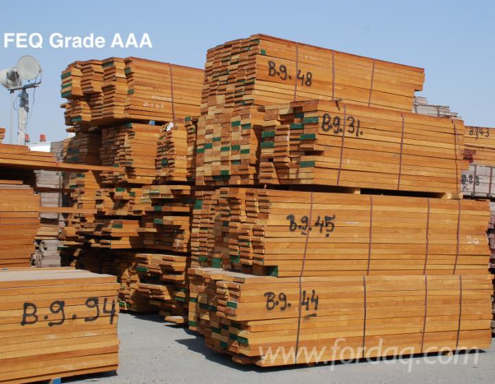 Burmese Teak Rough Sawn Lumber