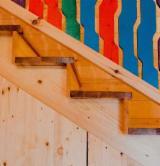 Holzkomponenten, Hobelware, Türen & Fenster, Häuser - Laubholz (Europa, Nordamerika), Treppen, Massivholz