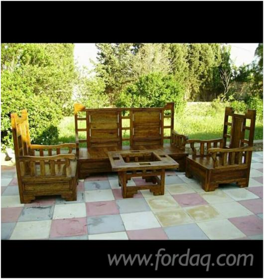 meubles de jardin en bois de palmier. Black Bedroom Furniture Sets. Home Design Ideas