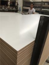 White color Melamine film faced MDF