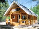 Square Milled Log House Wooden Houses - Wooden houses made of Pine - Redwood logs
