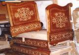 Art & Crafts/Mission Bedroom Furniture - Moroccan Wood Crafted Chairs