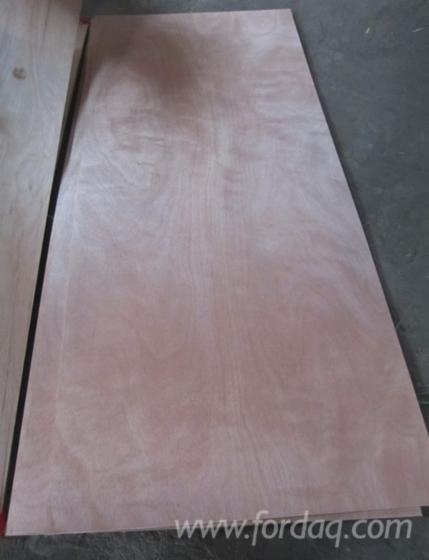 Okoume Veneer Laminated Plywood 3 X7 Plywood Door 2 7mm