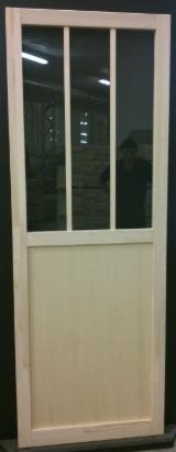 Holzkomponenten, Hobelware, Türen & Fenster, Häuser - Nadelholz, Türen, Massivholz, Fichte  - Weißholz, PEFC/FFC, Echtholzfurnier