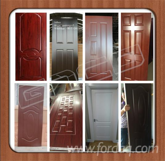 Wenge-Teak-oak-Melamine-HDF-moulded-door-skin--Melamine-HDF-door-face-HDF