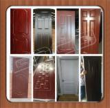 Engineered Panels - Wenge Teak oak Melamine HDF moulded door skin/ Melamine HDF door face/HDF door