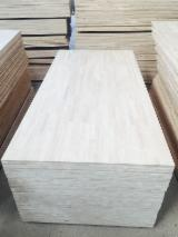 Finger Jointed Solid Wood Panels - Rubberwoods finger joint laminated panel