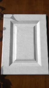 null - White Color High Quality MDF Board PVC Laminated Kitchen Cabnit Door