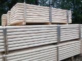 Cylindrical Trimmed Round Wood - Spruce Poles & Stakes 5, 6, 8, 10, 12, 14 cm