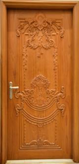 Asiatisches Laubholz, Türen, Massivholz, Teak