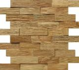 Edge Glued Panels Glued Discontinuous Stave  For Sale -  WOODEN WALL CODE T03-OA01