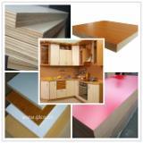 Engineered Wood Panels - wood grain laminated MDF/ Melamine faced MDF/ White laminated MDF