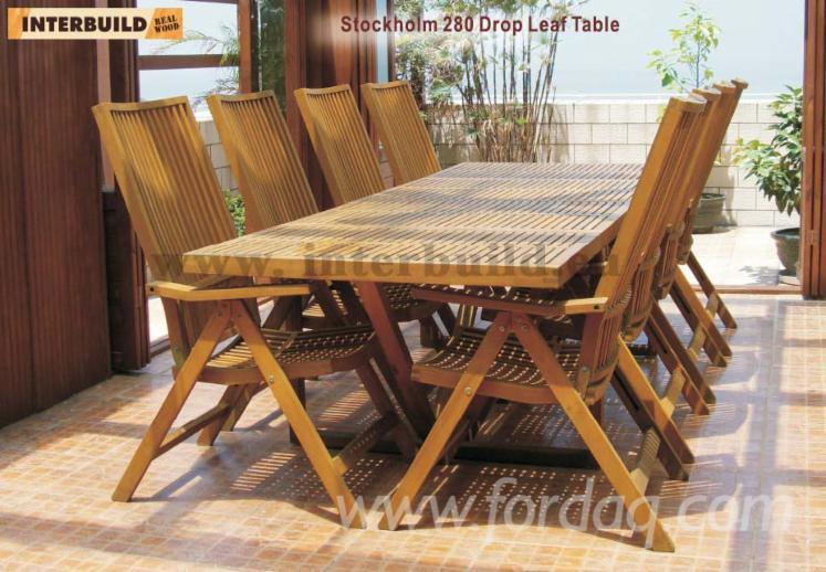 Venta Mesas De Jardín Diseño Madera Dura Europea Acacia Hong Kong