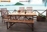 Garden Furniture - Stockholm Outdoor Rectangular Dining Table with 180 cm