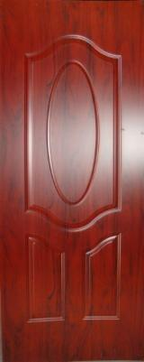 Engineered Wood Panels - Sapele Teak Wenge Melamine HDF molded door skin/ Melamine door face/ HDF moulded door skin panel