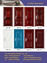 Готові Вироби (Двері, Вікна І Т.д.) - Африканська Листяна Деревина, Двері, Сталь, Abura , Фарба