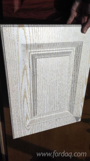 Wood Grain Pvc Laminated Mdf Kitchen Cabinet Door