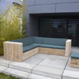 Garden Furniture - Corner sofas from wood scaffolding
