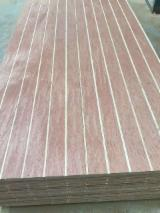 Grooved bintangor plywood for decoration